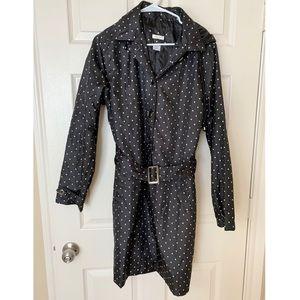 Capelli Polka Dot Belted Hooded Rain Coat